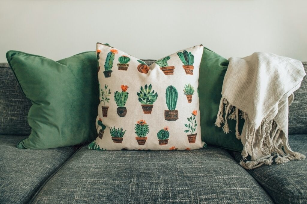 Sustainable Ways to Decorate Your Home with upcycling cushions