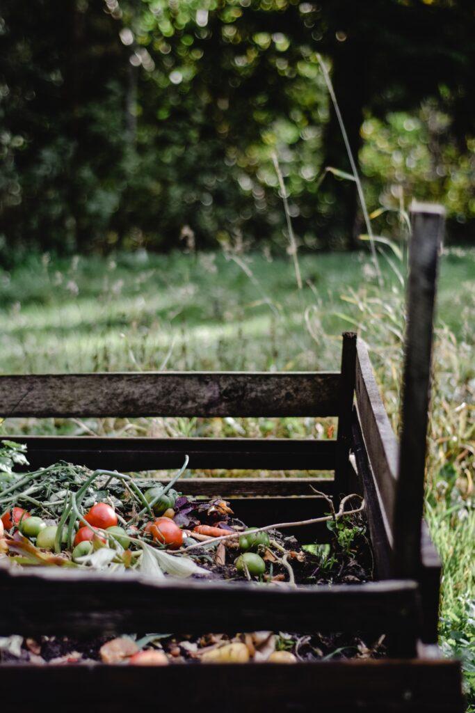 a compost heap in someones garden