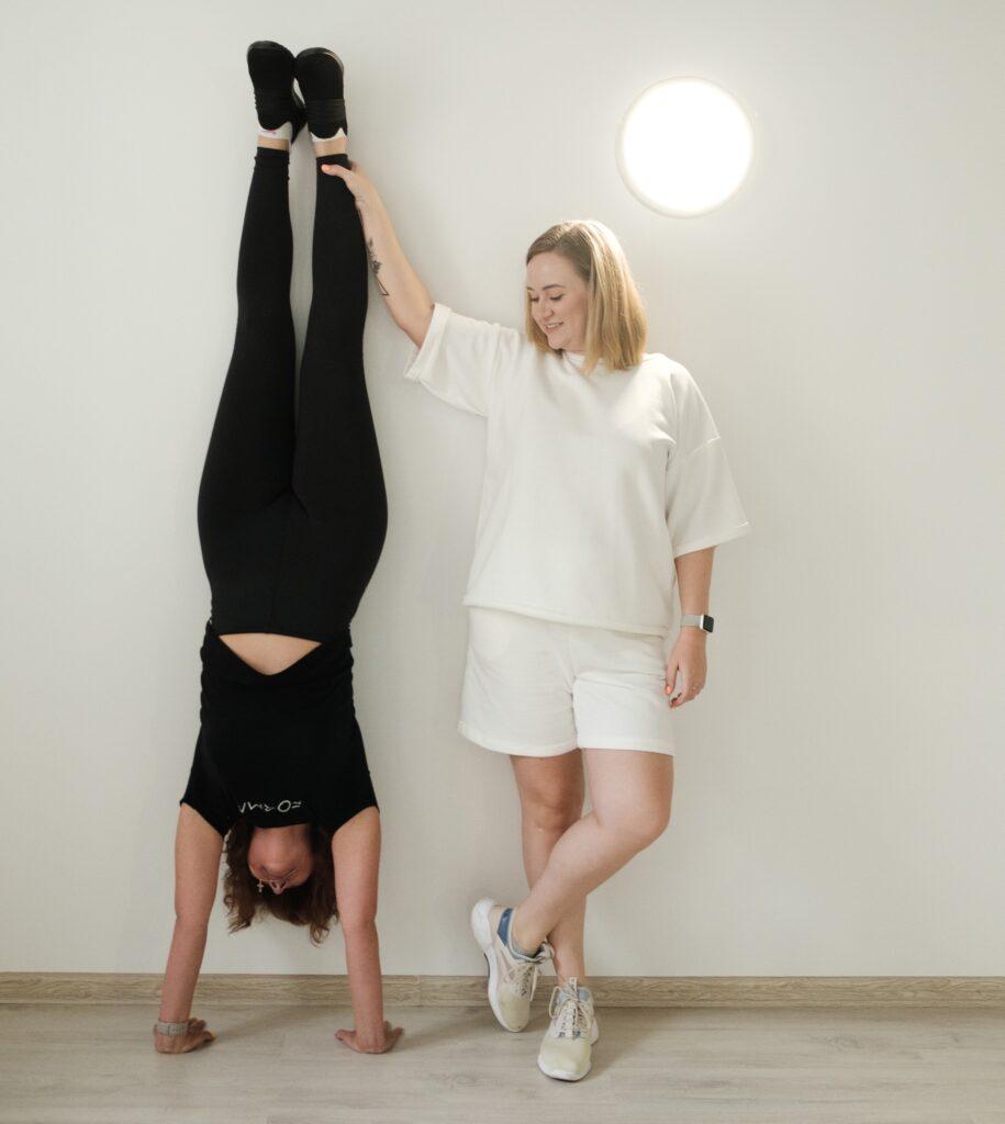 two women wearing vegan sportswear