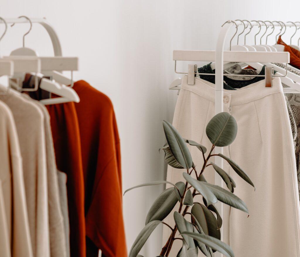 vegan and sustainable clothing rails