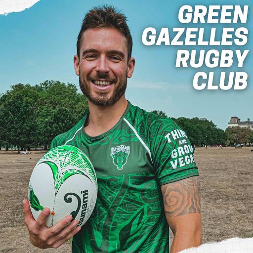 vegan rugby player from the green gazelles rugby club