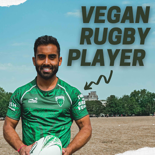 vegan rugby player