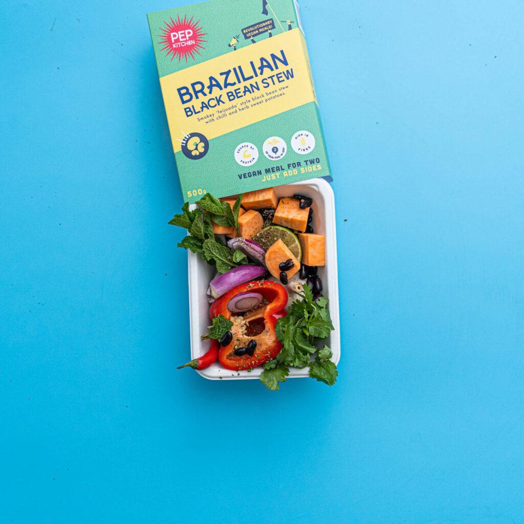 brazillian black bean strew vegan ready meal by Pep Kitchen