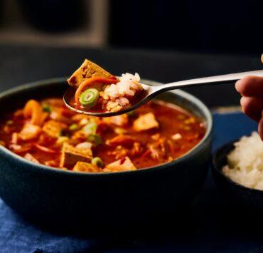korean tofu stew from gousto