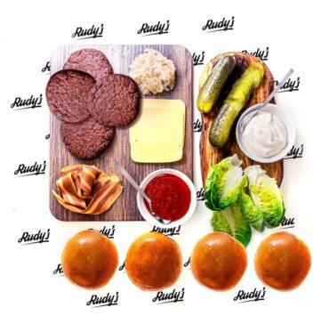 rudys vegan burger meal kit