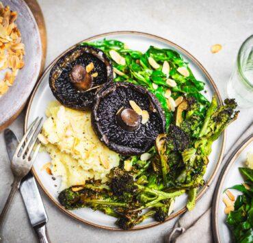 vegan mushroom dish by riverford
