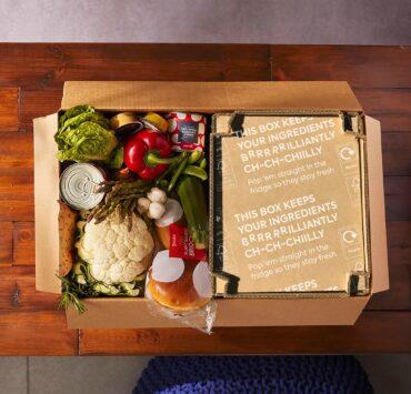 vegan recipe box from gousto
