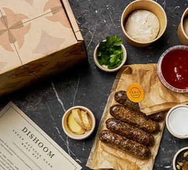 vegan sausage naan kit by dishoom