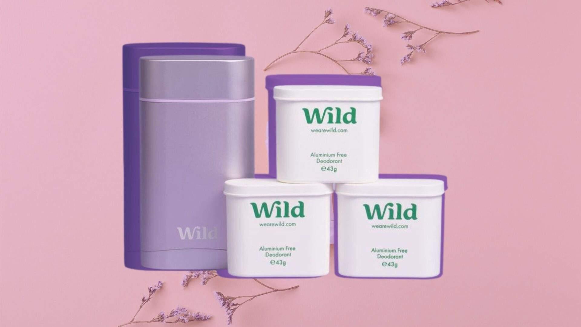 lavender scented vegan deodorant with refills by wild deodorant